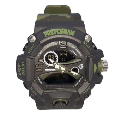 RELÓGIO PRETORIAN GUARD BLACK MILITARY GREEN ( WPRT-03-3)
