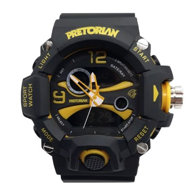 RELÓGIO PRETORIAN GUARD BLACK/ YELLOW ( WPRT-03-2)