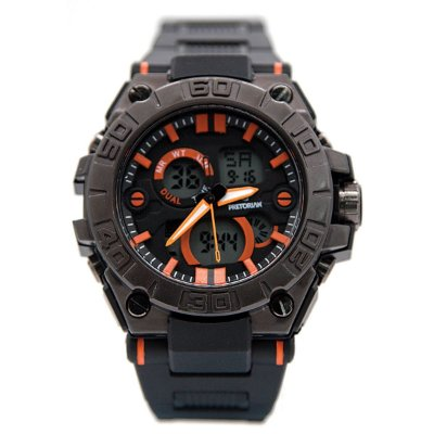 RELÓGIO PRETORIAN STRONG BLACK/ ORANGE (WPRT-11-3)