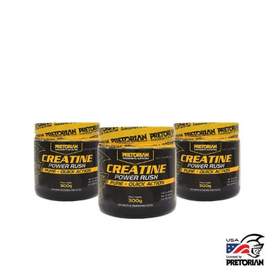 KIT CREATINA POWER RUSH PRETORIAN  300GR