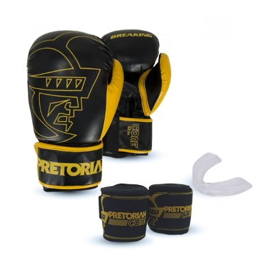 KIT BOXE/MUAY THAI PRETORIAN CORE PRETO