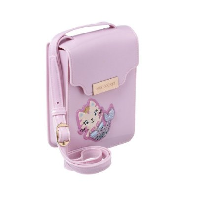 Bolsa Infantil World Colors Sereia Gatinha Rosa