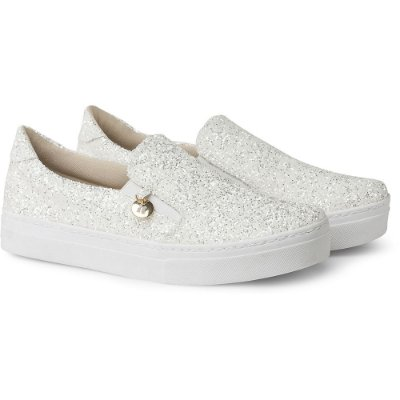 SLIP-ON IT – GLITTER BRANCO