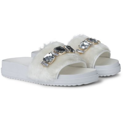 SLIDE IT - LADY FUR WHITE CRISTAL