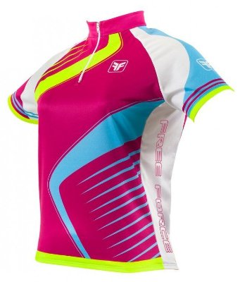 Camisa de ciclismo feminina Needle Pink Free Force