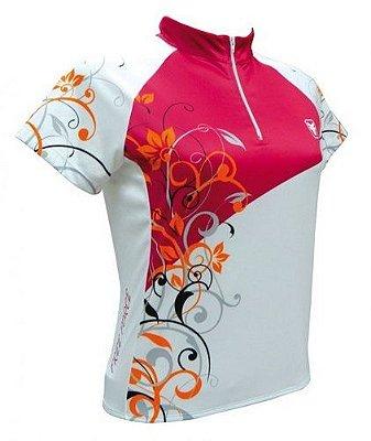 Camisa de ciclismo feminina Sunshine Rosa Free Force