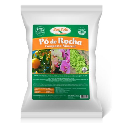Pó de Rocha - Composto Mineral BonSolo (1Kg)