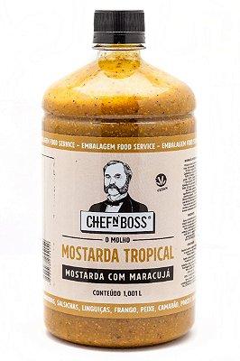 MOSTARDA TROPICAL COM MARACUJÁ - (EMBALAGEM FOOD SERVICE 1,001 L)