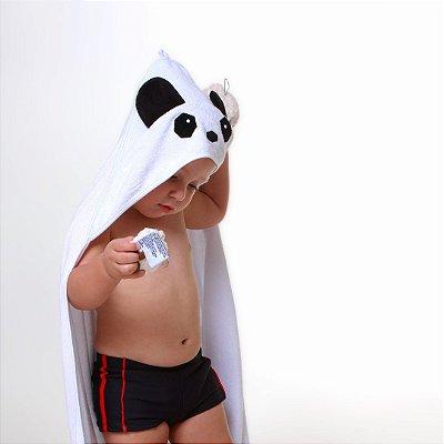 Toalha de Banho com Capuz - Panda