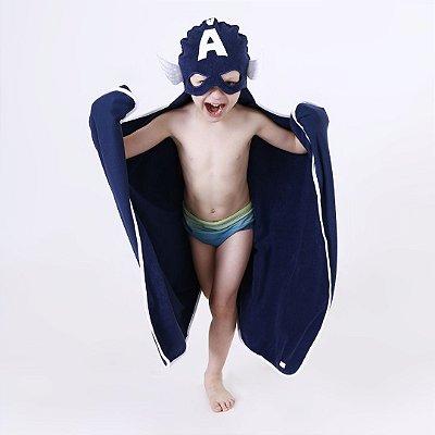 Toalha de Banho com Capuz - Capitão América