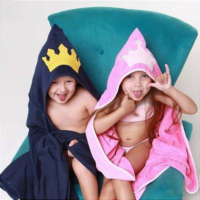 Toalha de Banho com Capuz - Princesa e Príncipe