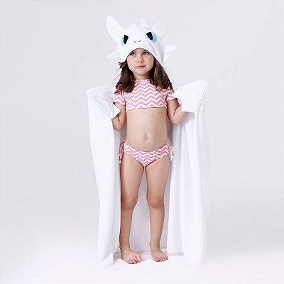 Toalha de Banho com Capuz e Asas - Dragão Fúria da Luz - Infantil