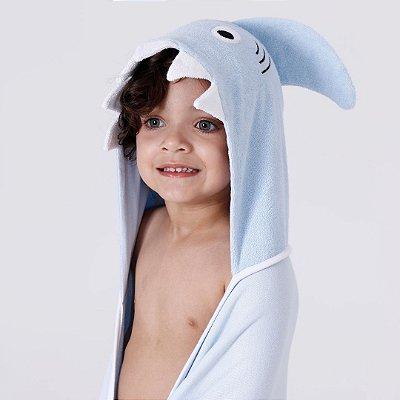 Toalha de Banho com Capuz - Tubarão Infantil