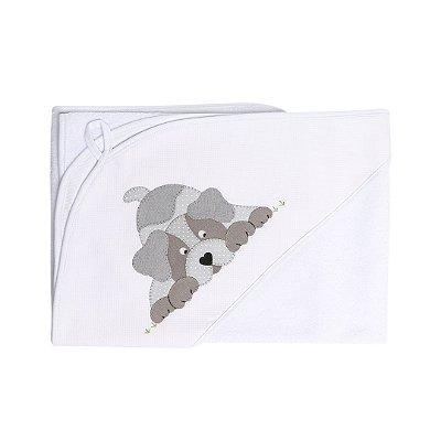 Toalha de Banho Patchwork - Cachorro
