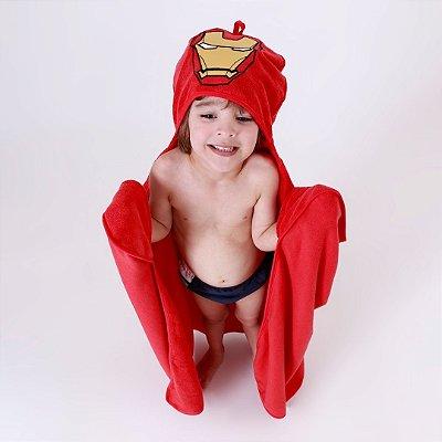 Toalha de Banho com Capuz - Homem de Ferro