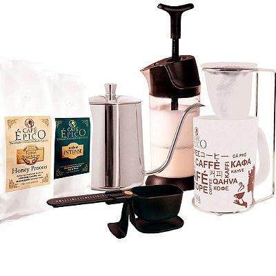 Kit Cofeelover coado Café Épico (Preto).