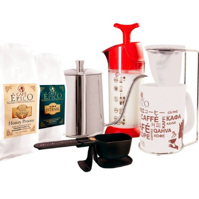 Kit Cofeelover coado Café Épico (Vermelho).