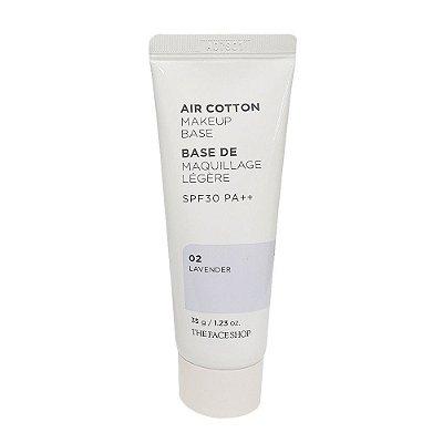 THE FACE SHOP - Air Cotton Makeup Base SPF30 PA++ - 02 Lavender