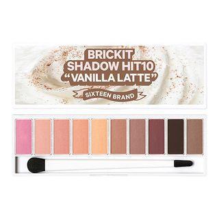 16BRAND - Bricket Shadow Hit 10 Vanilla Latte Eyeshadow Palette