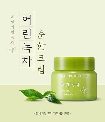 NATURE REPUBLIC - Young Green Tea Mild Cream - 55ml