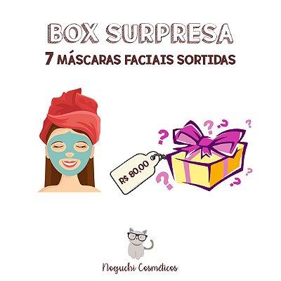 BOX SURPRESA COM 7 MÁSCARAS FACIAIS