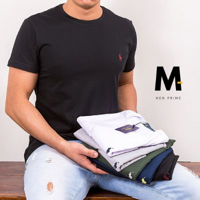 Kit 5 Camisetas Masculinas Polo