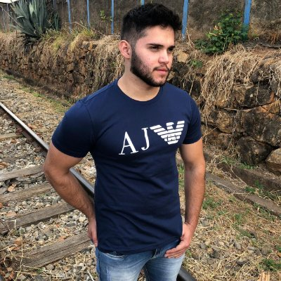 Camiseta AJ Azul Marinho