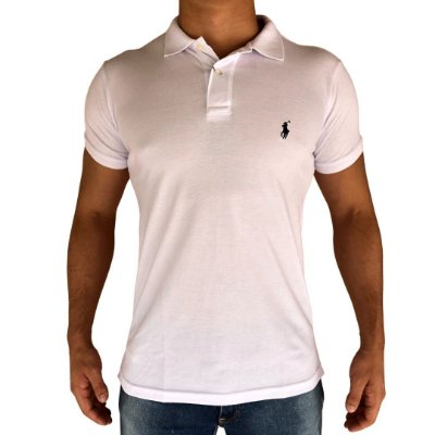 Camisa Polo Branca - Custom Fit
