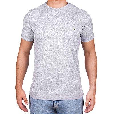 Camiseta Masculina - Lac Croco Cinza