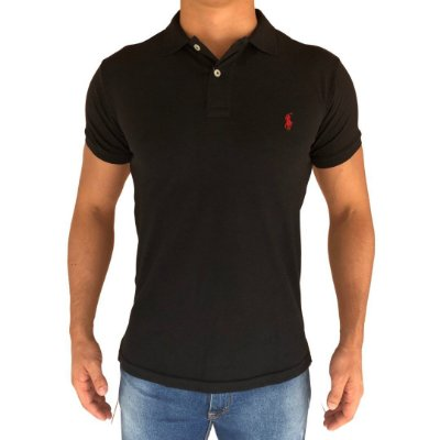 Camisa Polo Preta- Custom Fit
