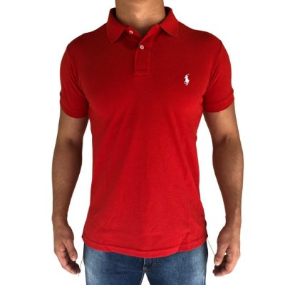 Camisa Polo Vermelho - Custom Fit