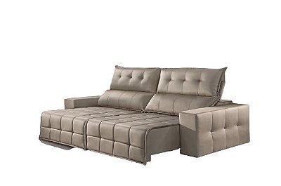Sofá Retrátil e Reclinável 2,50 cm CB SSC Creme