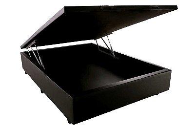 Base Box Bau - 138 cm X 188 cm Casal Courino Preto