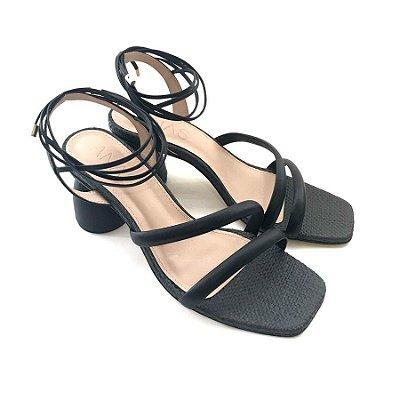 Sandália de Amarrar Preta