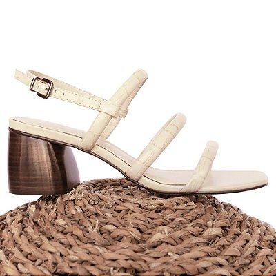 Sandália Três Tiras Off White