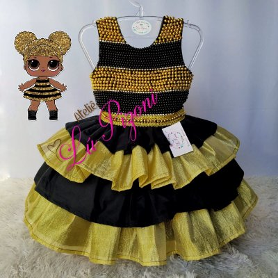 VESTIDO SUPER LUXO LOL QUEEN BEE