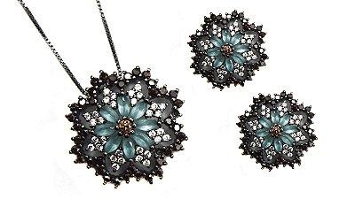 Conjunto flor negra