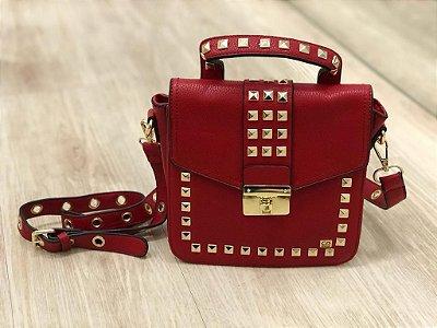 Bolsa Ilhós Luxo Vermelha