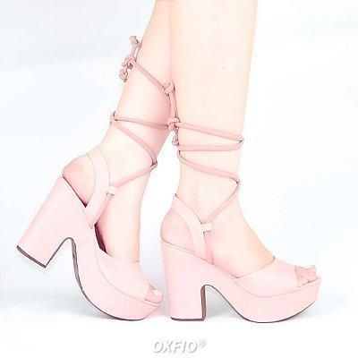 Sandália Plataforma Rosé
