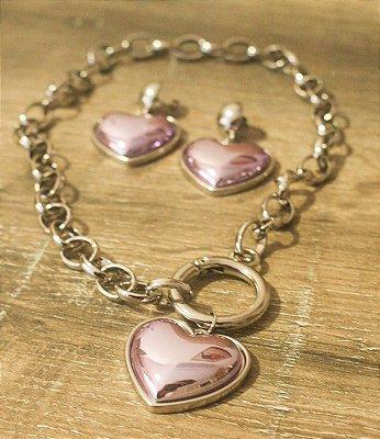 Conjunto In Love Coração Lilás