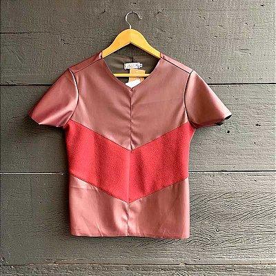 T-Shirt Courino c/ Suede Marsala