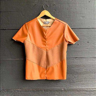 T-Shirt Courino c/ Suede Caramelo