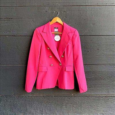 Blazer Inspiração Balmain Rosa Chiclete