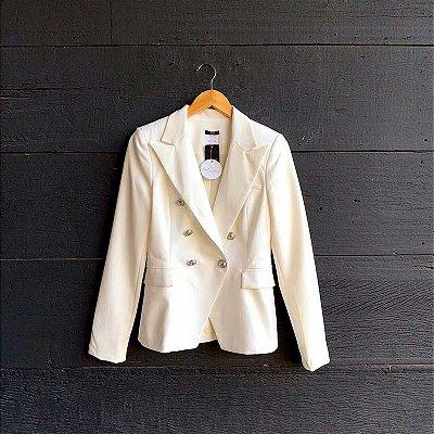 Blazer Inspiração Balmain Off White