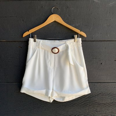 Short Barra Italiana c/ Cinto Branco