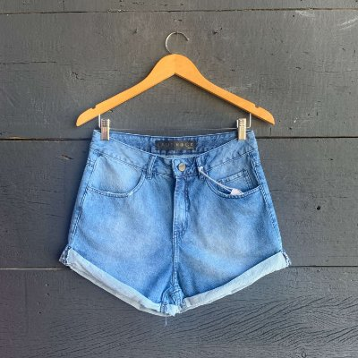 Short Jeans  Confort Com Barra Dobrada