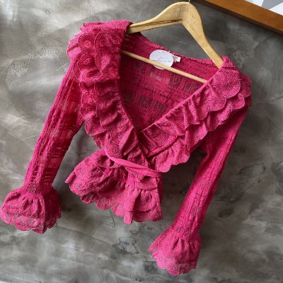 Camisa Renda Luxo Pink
