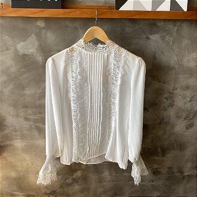 Camisa c/ Renda Branca