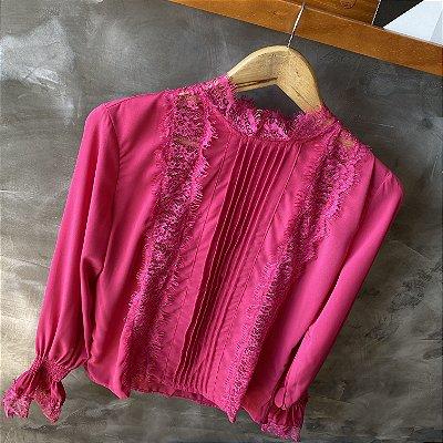 Camisa c/ Renda Pink