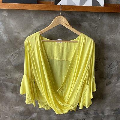 Blusa Cache Coeur Amarela